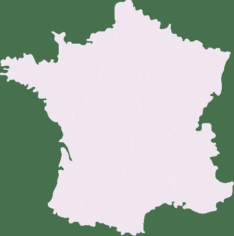 Carte de la france pour afficher les restaurants Nooi partout en France