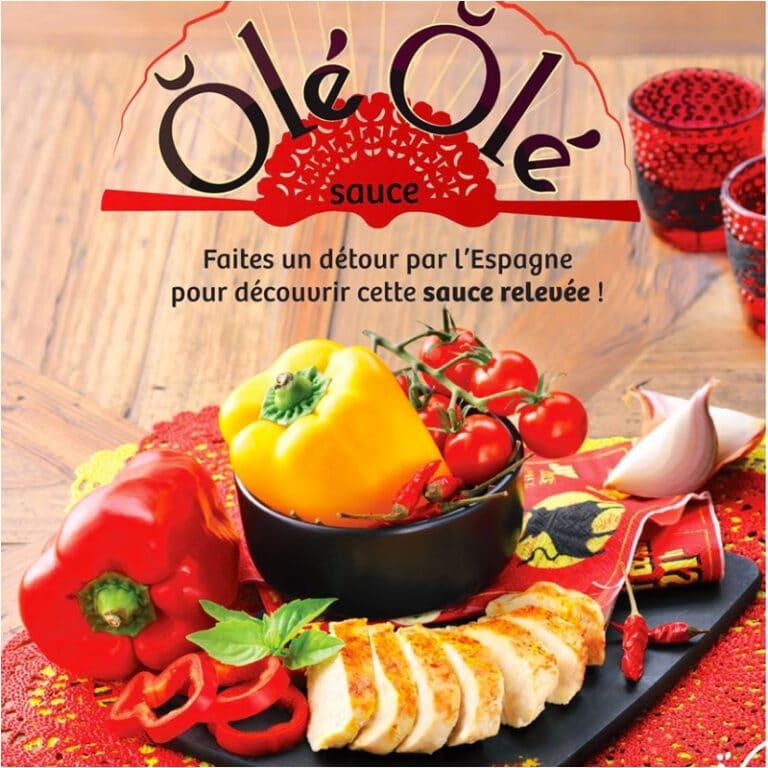 La sauce Olé olé qui vient de l'Espagne et qui est relevée. Les retaurants Nooi sont partout en France. Ce sont des plats de pates